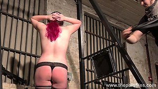 Submissive chubby chick Alora Lux gets spanked and punished in the basement