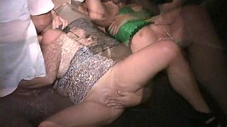 Fisting squirters rule in masked MILF swing club orgy