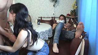 Aphrodisiac brunette Lina's cuchy gets hammered