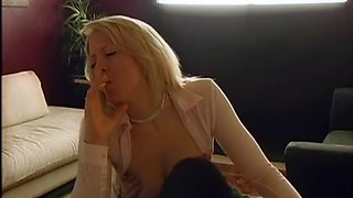Hottest smoking record with blonde, couple scenes